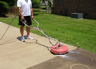 How eco technologies is different eti pressure washing for Driveway pressure washer
