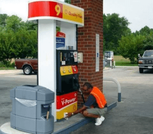 Pump Island Cleaning